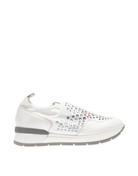 Janet Sport  Sneaker slip on strass