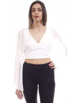 Fracomina  CROPPED TOP CREAM