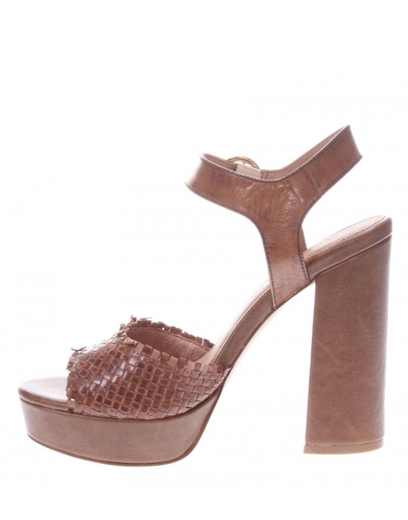 Intrecciata Sandalo De Da Donna Pelle Noir Cafè Shoes Silvestri 0OwkPn
