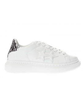 2Star  SNEAKERS PR WHITE LEATHER - WHITE/B