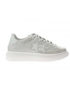 2Star  SNEAKERS PR LIGHT GREY LEATHER- WHI