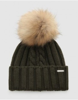 Woolrich  Cappello  Wool Raccoon Pompom